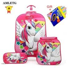 2019 nueva mochila para niños mochila escolar para niños con ruedas equipaje para niños niñas mochila escolar bolsa de regalo para niños