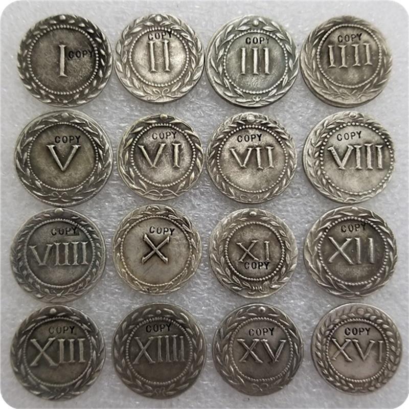Греко-римские SPINTRIAE эротическая медаль TOKENS день рождения сексуальный подарок 16 шт. копия монет