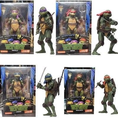 NECA Leonardo Donatello Michelangelo Raphael PVC Action Figure Toy 7 Inch