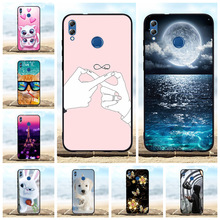 For Huawei Honor 8X Max Case Ultra Slim Soft TPU Silicone Enjoy Cover Moon Patterned Coque Bag