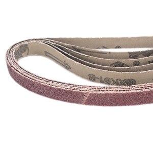 Image 5 - 20pcs מלטש חגורות 40Grit 120Grit Powerfile חגורת סנדר חגורות 13mm x 457mm עבור חגורת שוחקים כלי