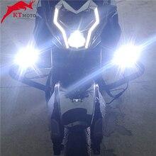 לbenelli TRK 251/502/X Leoncino 250 500 TNT600 שביל TNT לבן אופנוע פנסי עזר מנורת 12V LED ספוט ראש אורות