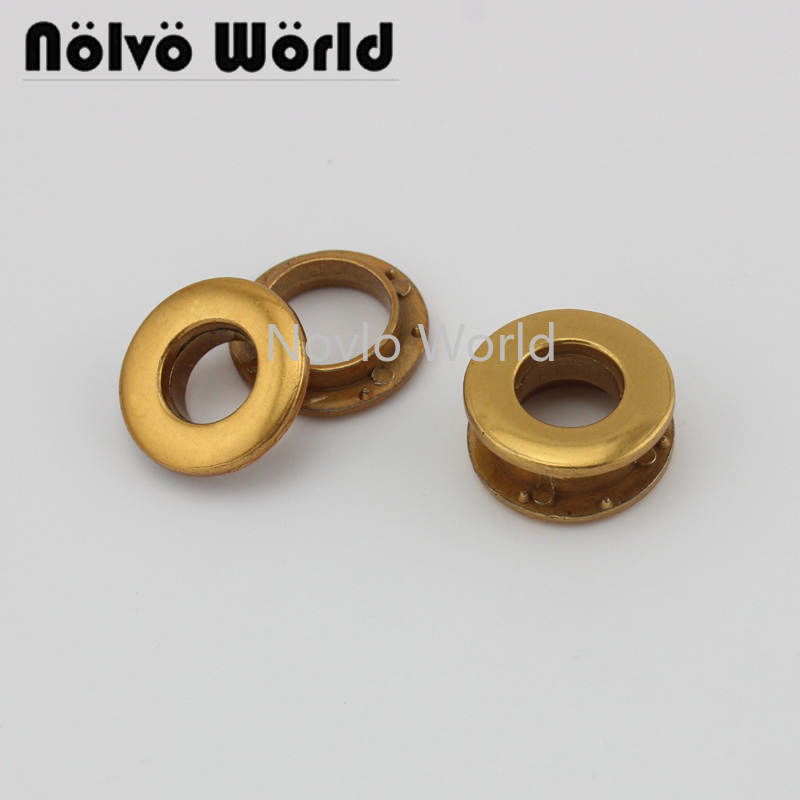 8 Pieces Test, Old Gold Metal Eyelets With Grommet For Leather Craft Shoe Belt Diy  Bag Tag Clothes Accessories