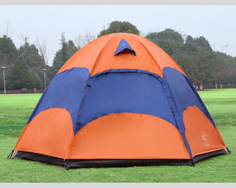 Mongolian Yurt Tent Fishing Mosquito Net Picnic Family Outdoor Camp Summer Beach Camping Tent 5 Person Waterproof (14)