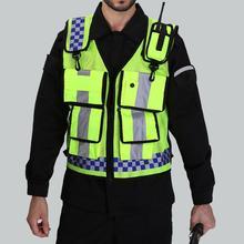 Vest High visibility reflective safety vest safety Clothing work reflective vest multi pockets workwear safety waistcoat цена 2017