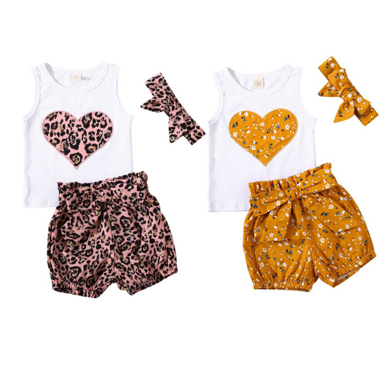 Infant Baby Girl Boy Outfit Long Sleeve Rainbow Pullover Tops with Leopard Pants 2pcs Set Winter Spring Clothes