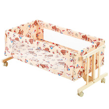 Baby Bed Bassinet Cradle Crib Rocking-Chair Bedside Multi-Function Comfort Solid-Wood