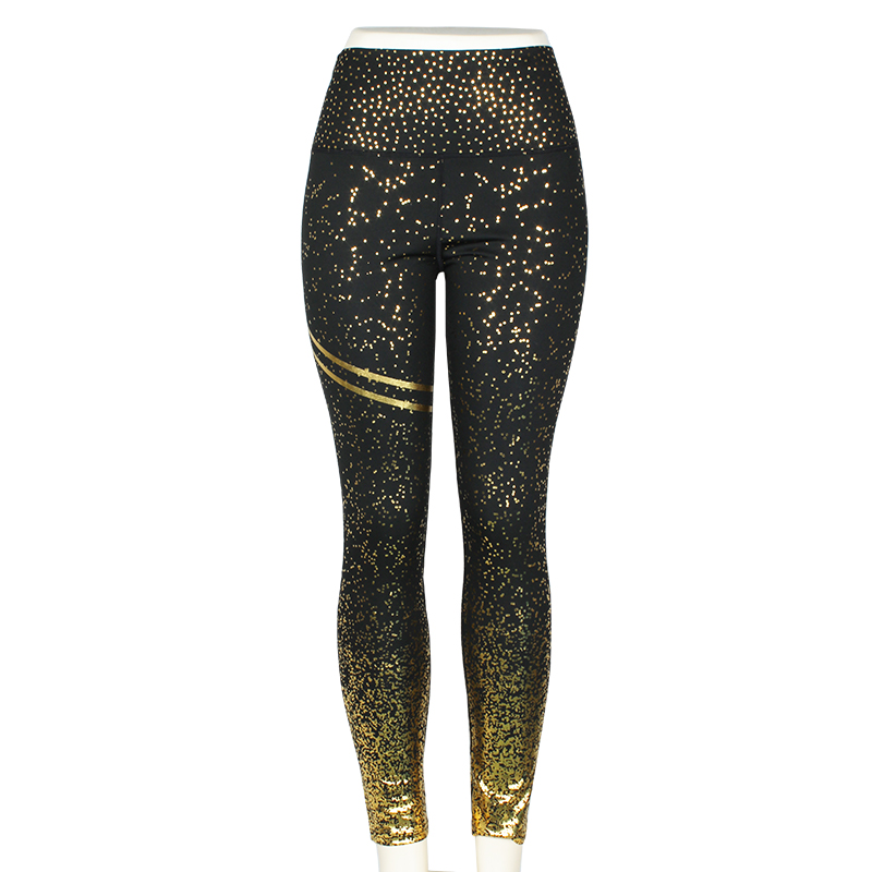 black leggings with gold