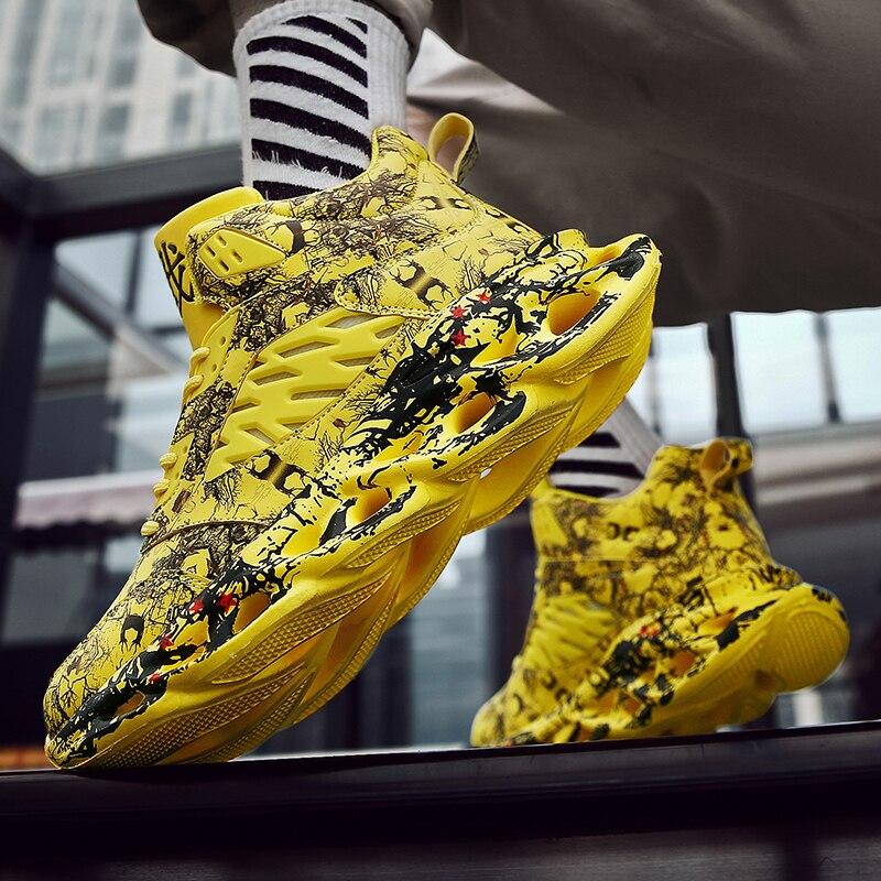 2020 KICKQZQP Shoes Men Casual Sneakers Chunky Fashion Men Comfortable Casual Shoes Male Dropshipping  Footwear Tenis Masculino