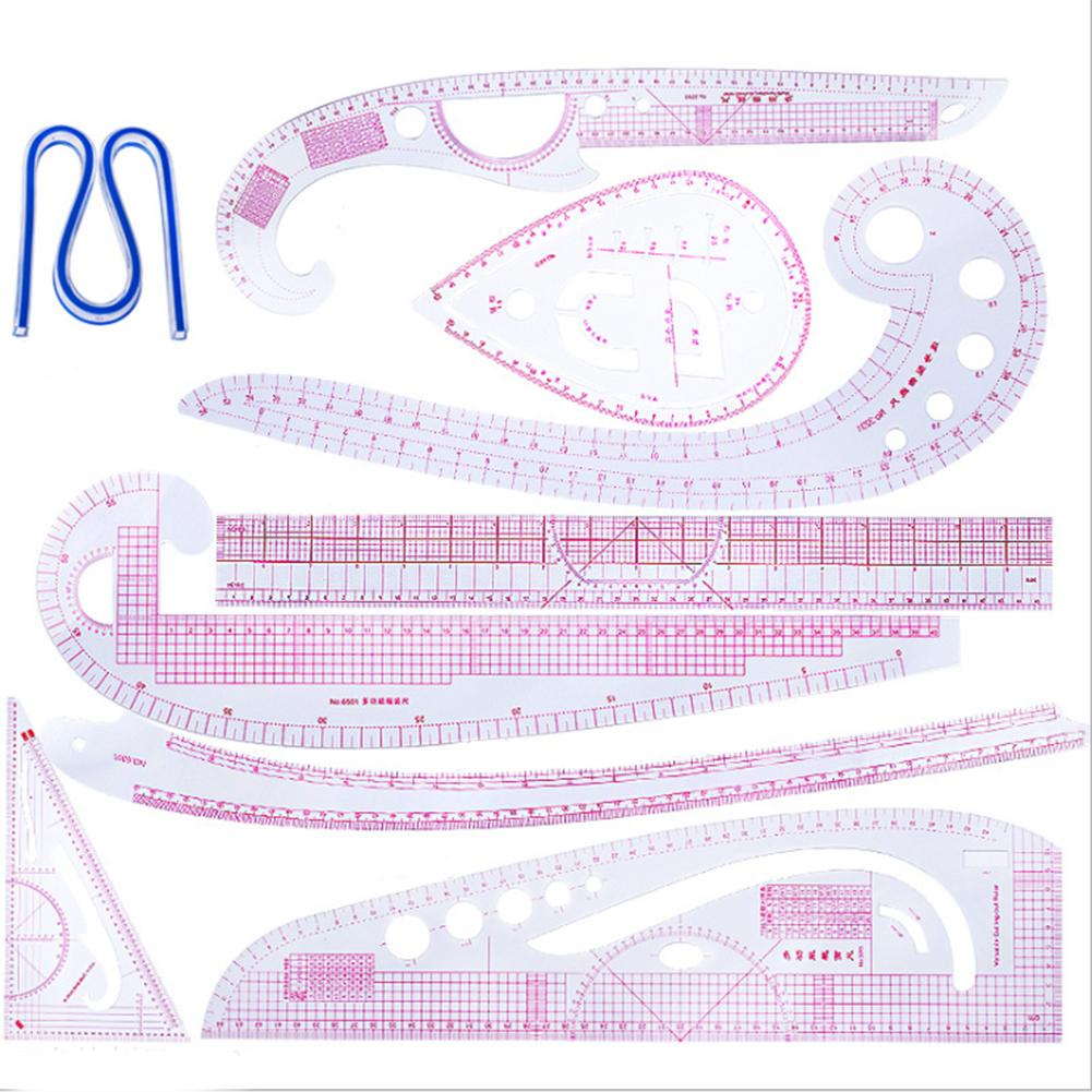 Sewing Tool 1//8Pcs French Curve Multi-Style Ruler Measure For Sewing Dressmaking