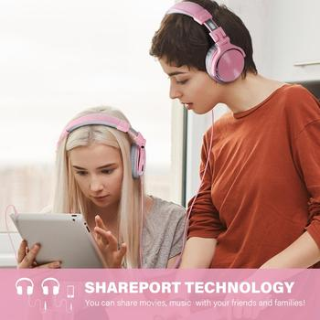 Oneodio Pink Headphones Gaming Headset With Microphone Wired Professional DJ Studio Stereo Headphone For PC Computer Women Girls 3