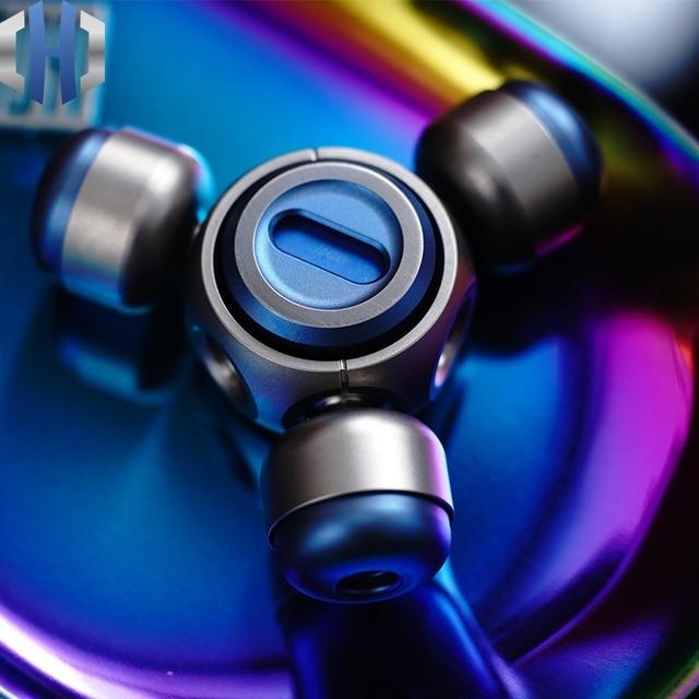 وحدة دوران بالأصابع سبائك التيتانيوم النحاس المحمولة الكبار الضغط اللعب الدورية الإبداعية حفل لعبة