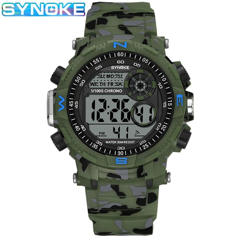 SYNOKE 9033 Led watches digital watch men Men's Sports Watch Waterproof Shock Military Watches Male Clocks Relogio Masculino
