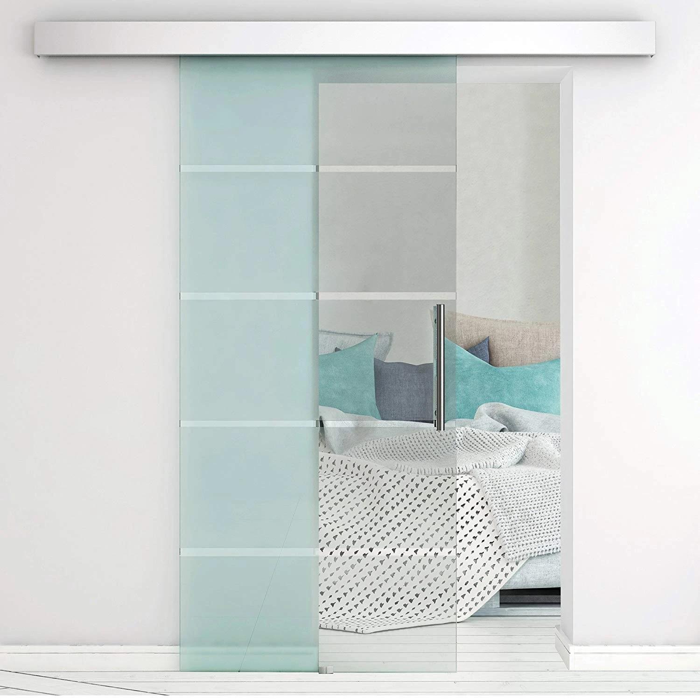 4 9ft 6ft 6 6ft Aluminium Alloy Frameless Brushed Glass Shower Sliding Barn Door Hardware Hidden Track Kit Doors Aliexpress