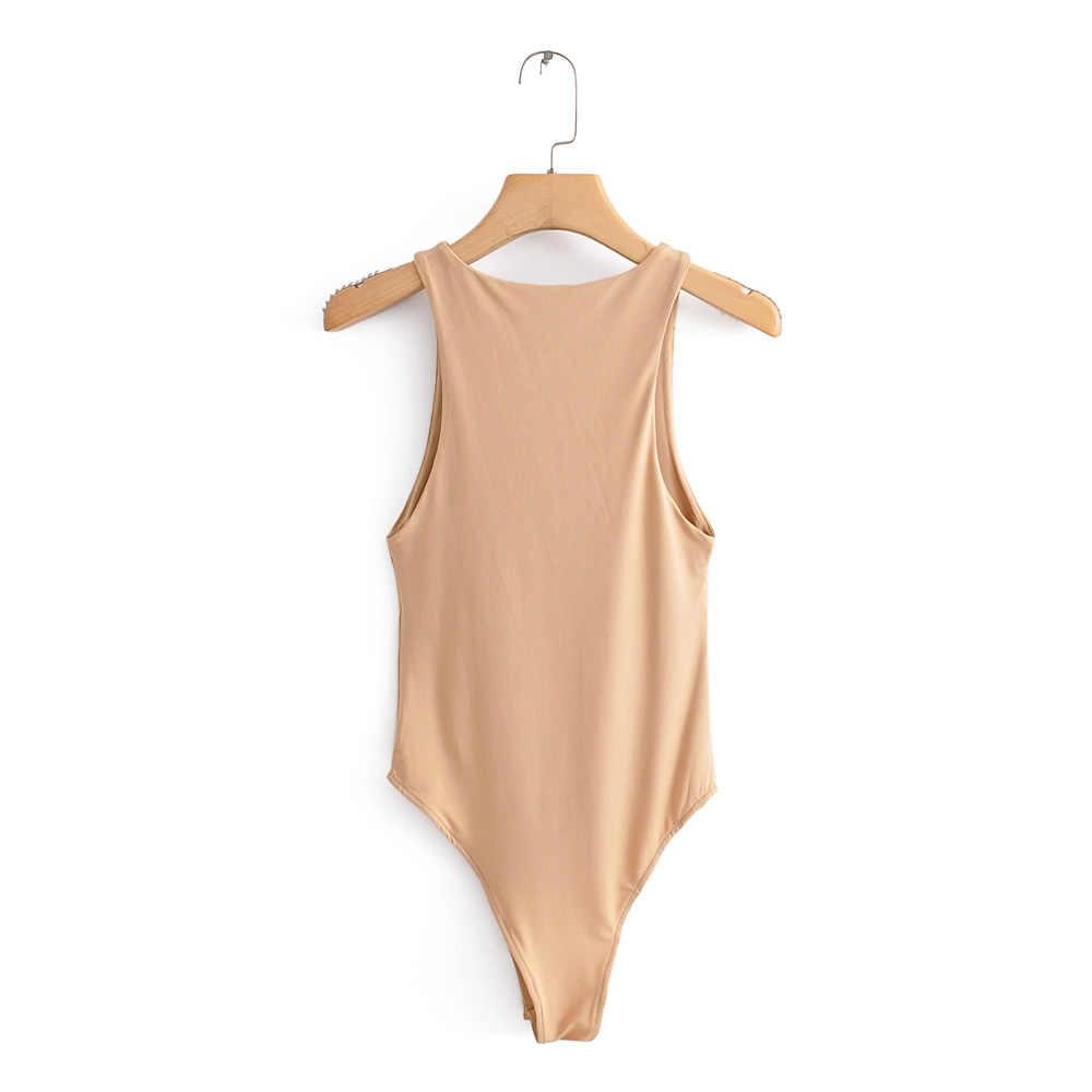 2020 Nieuwe Zomer Herfst Jumper Body Pak Vrouwen Casual Sexy Slim Beach Jumpsuit Romper Meisje Bodysuit Solid Merk Pak