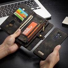 Caseme Funda de cuero de lujo para Samsung Galaxy S8, S9, S10, S20 Plus, A70, A50, A40, Note 10, Note20, billetera magnética Ultra abatible