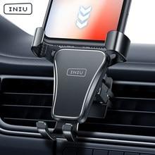 INIU-Soporte de teléfono móvil de gravedad para coche, rejilla de ventilación de Metal para Smartphone, GPS, para iPhone 12, 11, Xiaomi, Samsung, Huawei y LG
