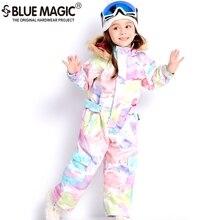 цены 19 ski suits bluemagic for kids waterproof outdoor jumpsuit girls boys snowboard jacket waterproof  Skiing overall  -30Degrees