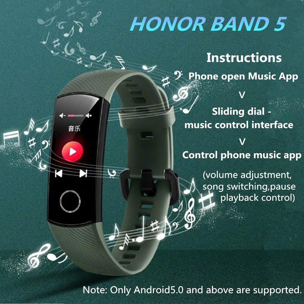 Original Huawei Honor Band 5 Smart Wristband Oximeter Touch Screen Magic Color Swim Heart Rate Detect Sleep Nap Honor Band 5