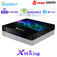 2020 X88 King Smart Tv Box Android 9.0 Amlogic S922X 4G 128GB Full Performance Media Player USB3.0 Portal Set Top Android Tv Box босоножки portal portal po018awehqt1