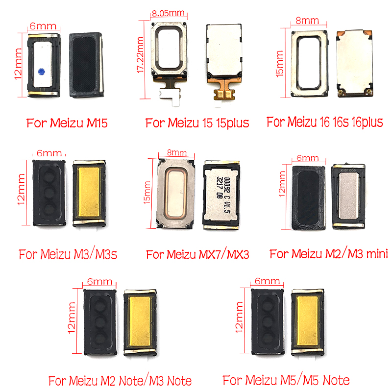 2 Pcs/lot , Earpiece Ear Speaker Receiver For Meizu 16 16S 15 A5 E2 E3 M15 M6 M5 M5s Note X8 Pro 7 Plus U10 U20 Earpiece