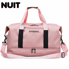 Woman Oxofrd Portable Tote Travelling Bags Female Travel Bag With Shoe Duffel Dry Wet Separation Handbags Luggage Carry On