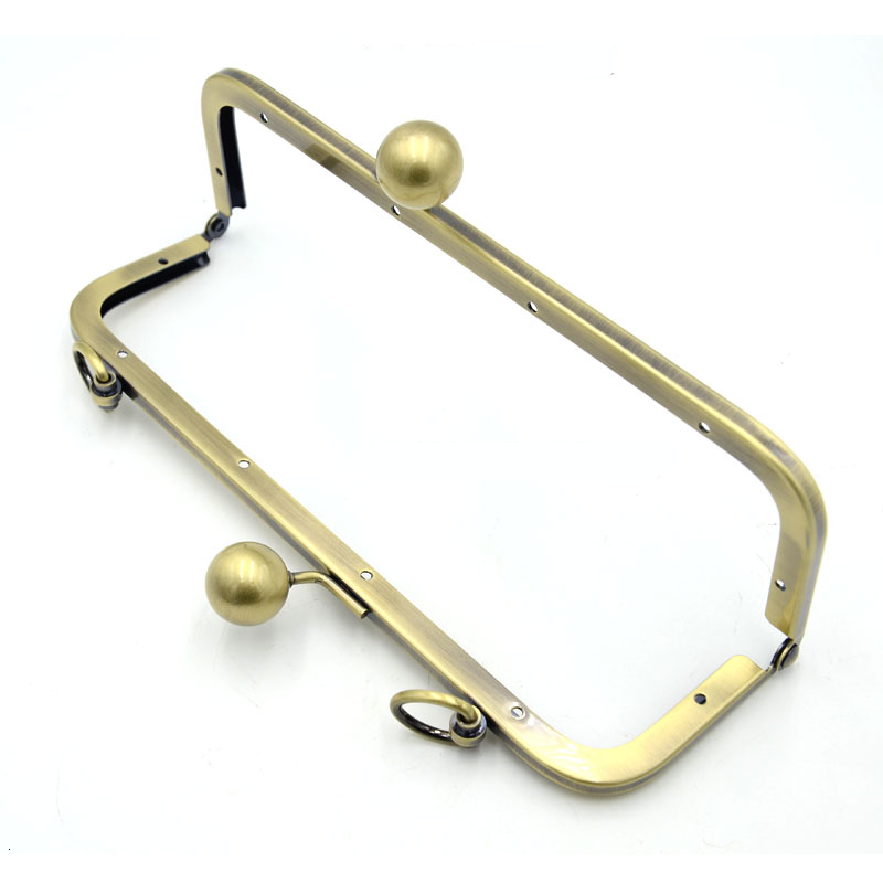 20cm High Quality Screw Metal Purse Frame Big Ball Clasp Chain Hook Bag DIY Parts Handmade Craft Bag Replacment Accessories