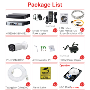 Image 4 - 大華 4MP 8 + 4 セキュリティcctvカメラキットオリジナルnvr NVR2108HS 8P 4KS2 ipカメラIPC HFW4431R Zモーターズーム監視システム