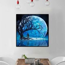 Full Blue Moon Tree 12x12in 5d Diamond Painting ,painting Cross Stitch Drill Crystal Rhinestone Embroidery Picture