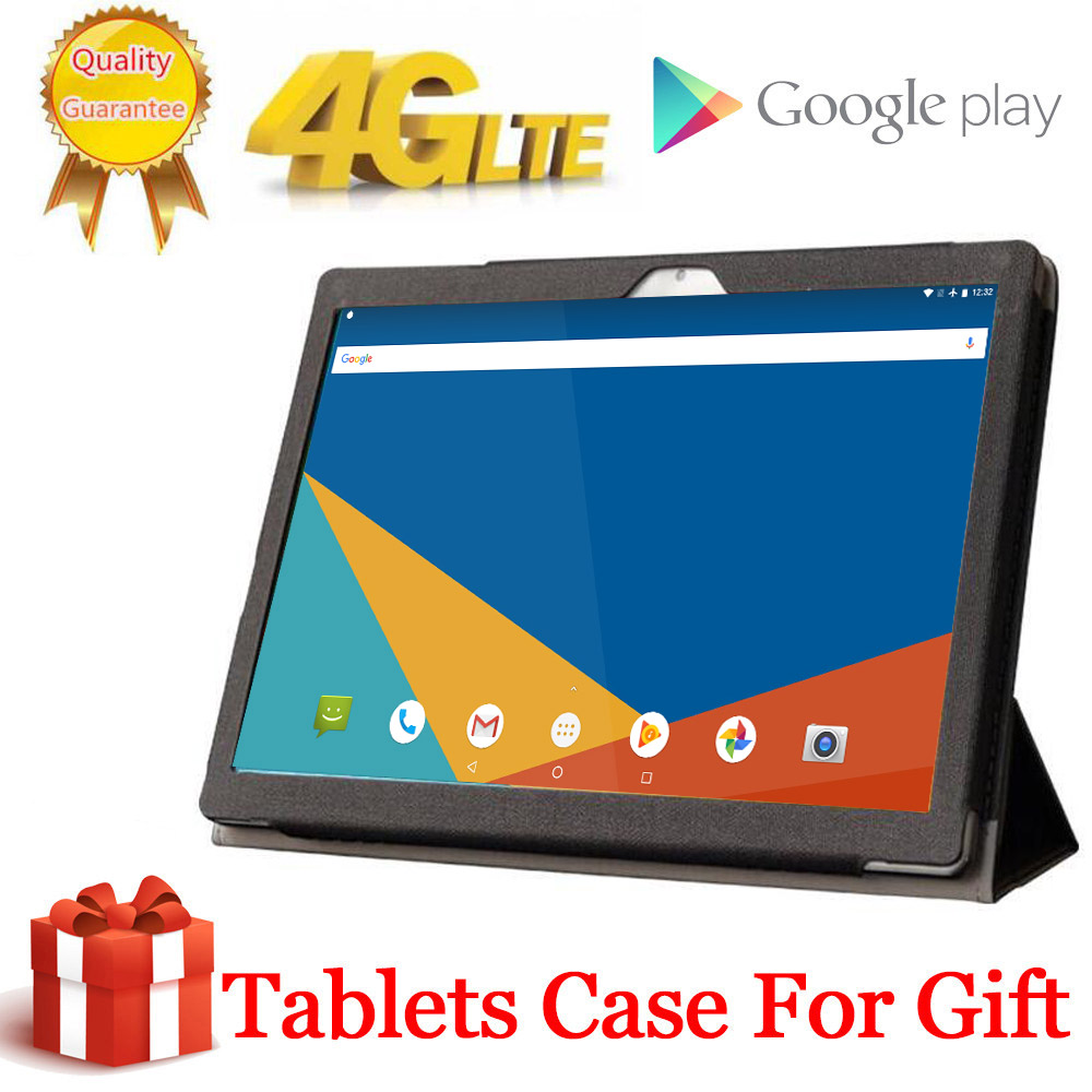 Free Gift Case Big Battery 8000mAH 256G 4G LTE FDD 10.1 Inch 2.5D Tablet Pc 10 Deca Core MTK6797 8GB RAM 256GB ROM Android 8.0