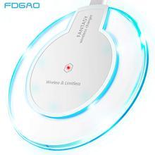 Беспроводное зарядное устройство FDGAO Qi для iPhone X XS MAX XR 8 11 Быстрая зарядка для samsung S8 S9 S10 Plus Note 9 10 USB зарядное устройство для телефона