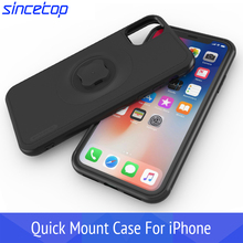 Shockproof Case Protect Case For iphone 11 Pro XsMax Xr 8 Plus 7 6s Waist Belt Clip Bicycle Phone Holder Bike With Quick Mount