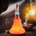 3D Print Night Light LED Space Rocket Lamp Bedroom Decoration USB Charging Table Lamp Home Bedside Lamp Creative Children's Gift