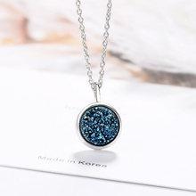 Женская круглая подвеска с кристаллами blue planet ожерелье
