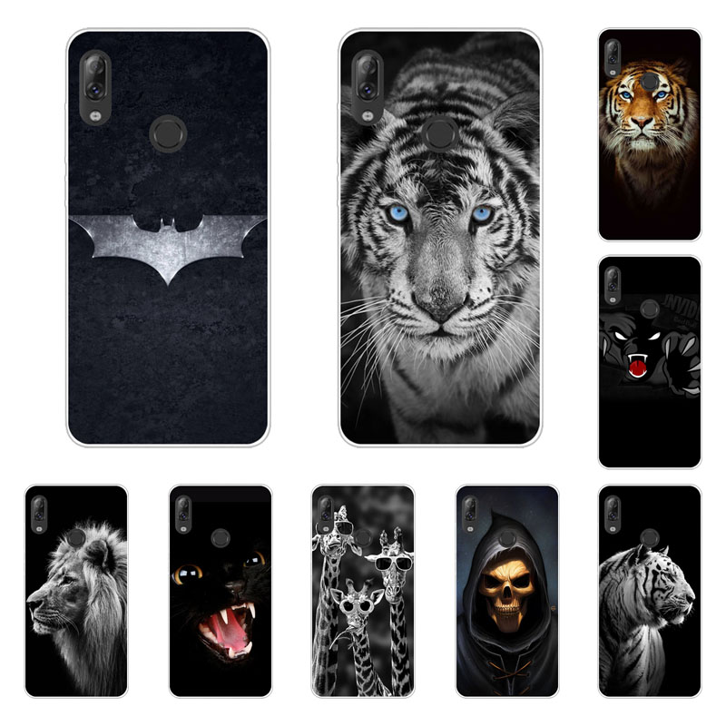 Lenovo K5 Pro Case,Silicon Fierce Animals Painting Soft TPU Back Cover For Lenovo Z6 Lite A5 S5 Pro Protect Phone Bags