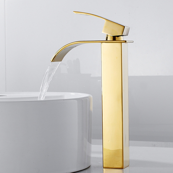Luxury Bathroom Waterfall Faucet Antique Sink Brass Wide Flowing Hot and Cold Mixer Tap Deck Mounted Basin Torneira Contemporary 11