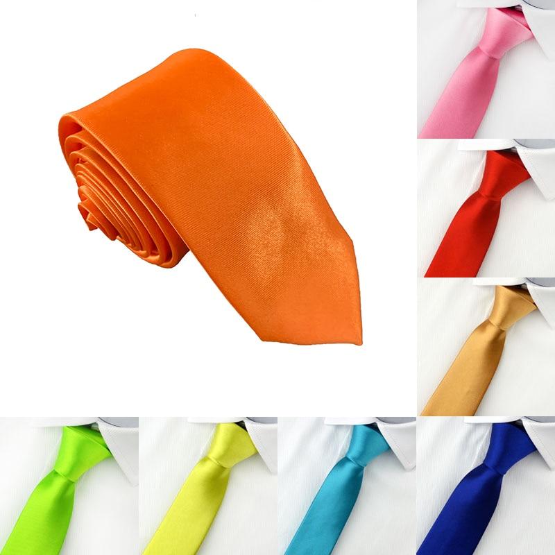 High Quality Solid Color Narrow Neckwear Mens Skinny Silm Neck Tie Wedding Party Ties 5 Cm Width Ties Men's Ties
