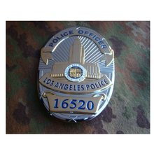 Placa de Metal para policía de Los Estados Unidos, insignias de Policía de Los Ángeles para colección, 13958, 16520