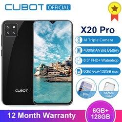 Перейти на Алиэкспресс и купить cubot x20 pro 4g smartphone 6gb+128gb android 9.0 fhd+ waterdrop screen ai mode triple camera face id cellura helio p60 4000mah