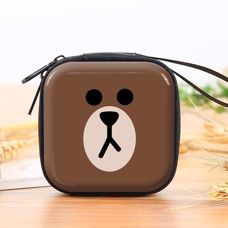 Criativo dos desenhos animados moedas bolsas mini quadrado caixa de fone de ouvido meninas meninos caso chave carteiras crianças homem-aranha superman fone de ouvido saco da moeda
