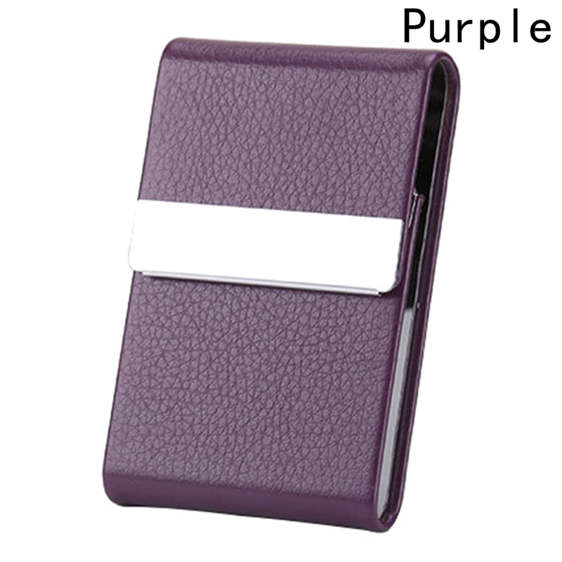 Визитница унисекс, высокое качество, кредитная карта, пакет, держатель для карт, двойной открытый чехол для визиток, Titular De La Tarjeta - Цвет: Фиолетовый