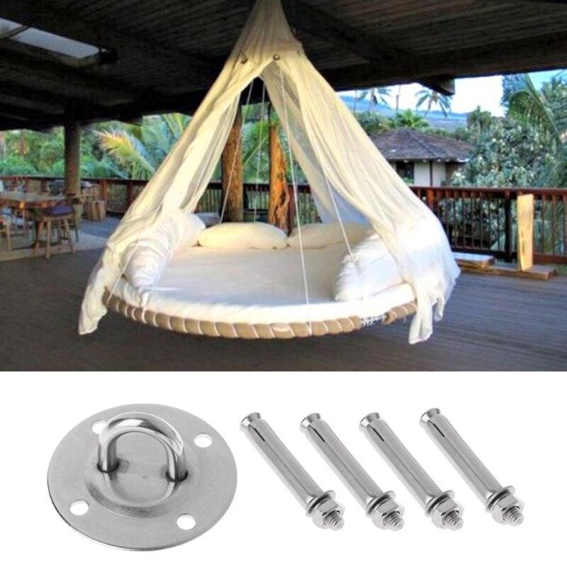 Kit de suspensão do balanço do teto da ioga aérea resistente dos ganchos da âncora da montagem da parede da rede