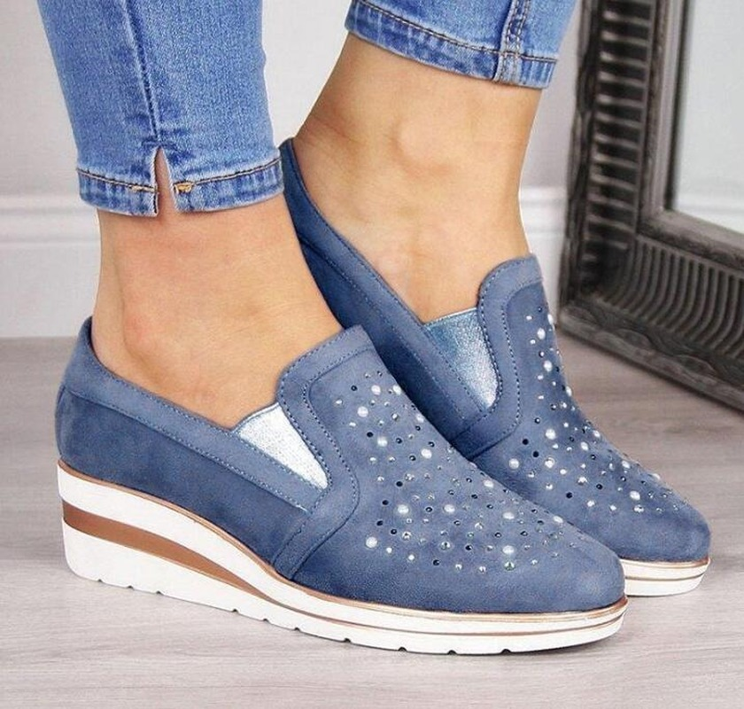2020 Autumn Women Flats Shoes Female Hollow Breathable Mesh Casual Shoes For Ladies Slip On Flats Loafers Lace Up Shoes Beach
