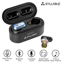 SYLLABLE-auriculares inalámbricos S101 Plus con Bluetooth V5.2, dispositivo de audio Original, TWS, Chip QCC3040, 12 horas, estéreo, S101 plus