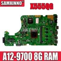 Para For Asus x555qg x555q x555b x555bp placa-mãe do portátil A12-9700 cpu 8gb ram rev.2.0 com 2gb placa principal gráfica