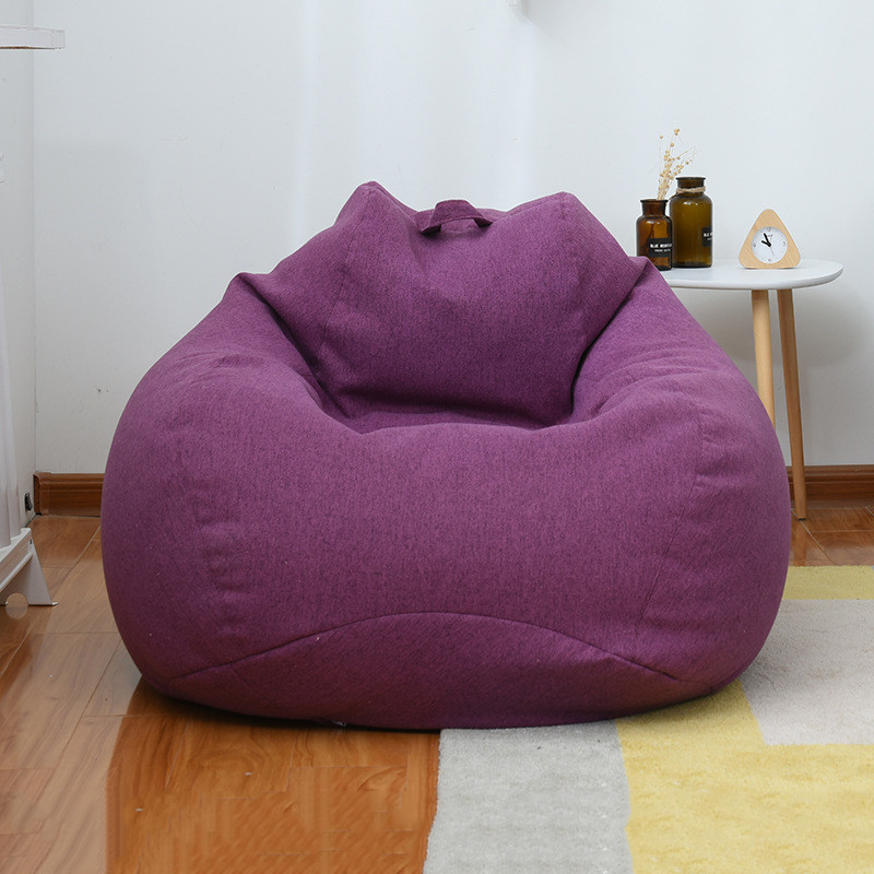 Small Lazy Large Bean Bag Sofas Cover Chairs With Filler Linen Cloth Lounger Seat Bean Bag Pouf Couch Living Room Products