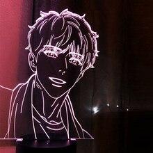 Lâmpada de acrílico 3d bl anime aj alex sensor de toque luz colorida led night light ahn jiwon lâmpada bj alex presente para a decoração do quarto de cama
