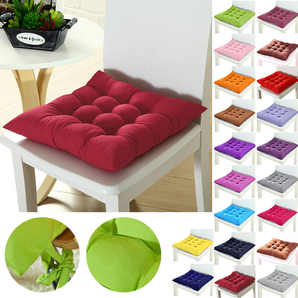 Winter Office Bar Chair Back Seat Cushions Sofa Pillow Buttocks Seat Cushion Pad Home Chair Cushion 37x37cm 1/2/4pcs