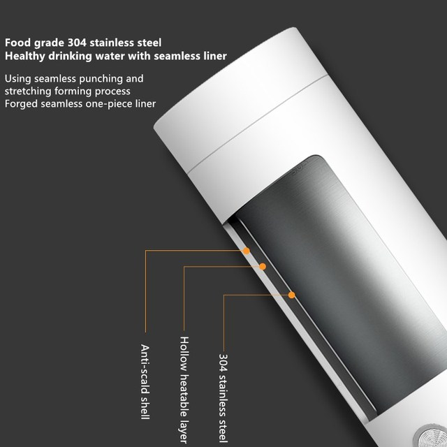 400ml portable electric kettles – thermal cup make tea coffee