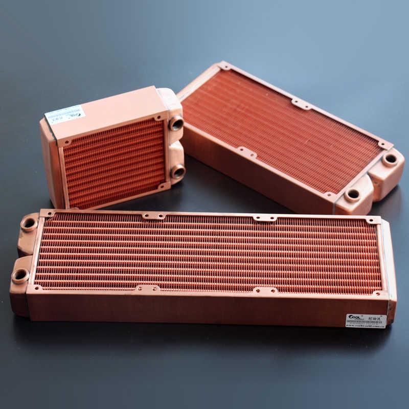 Ke Ruiwo 360 millimetri Rosso Pieno Radiatore di Rame 45 millimetri di Spessore di Acqua di Raffreddamento Del Radiatore Adatto Per 120 millimetri Ventole